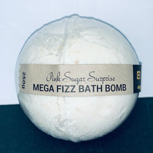 Load image into Gallery viewer, Pink Sugar Surprise Mega Fizz Bath Bomb