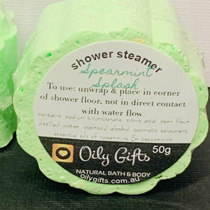 Shower Steamers with Essential Oils