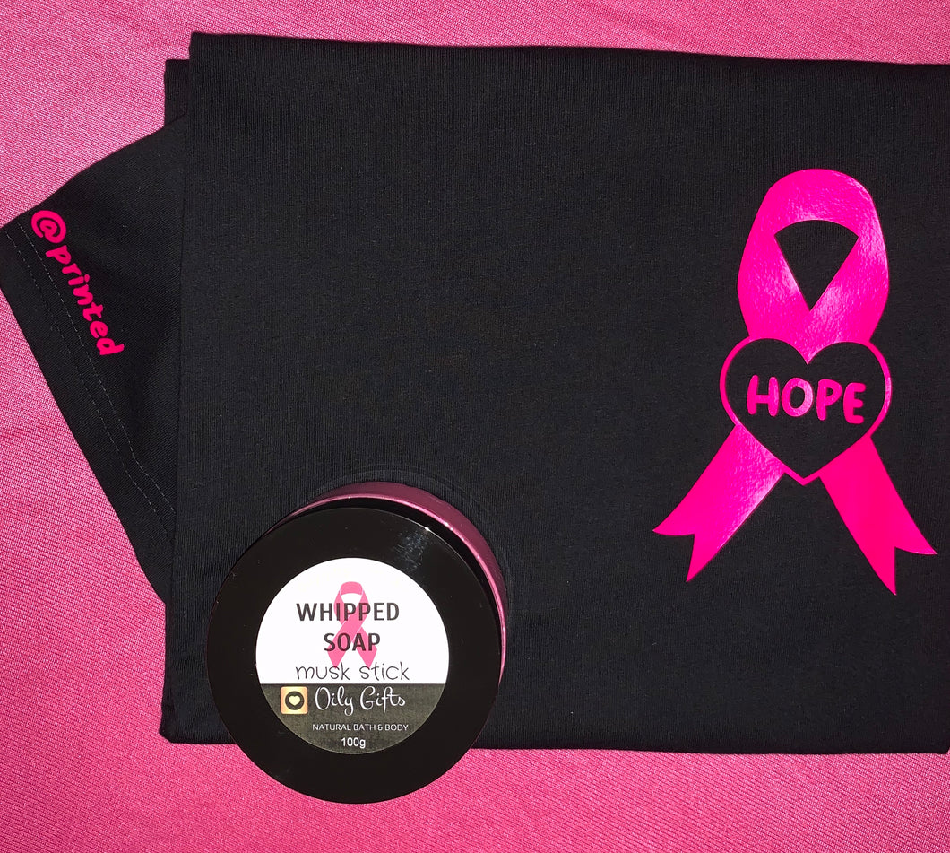Pink Ribbon T Shirt & Whipped Soap Pack