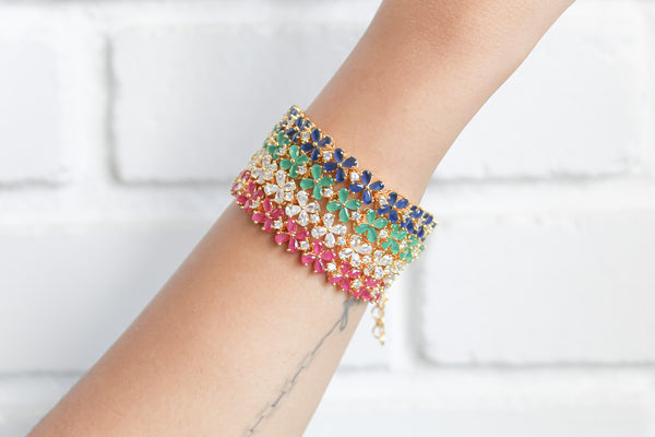 color stone crystal bracelet