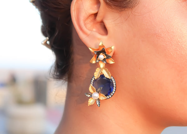 colorful stone earrings trend