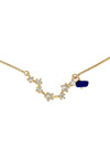 Virgo Necklace with Lapis