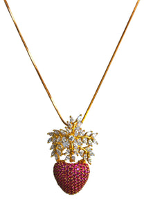 Himalayan Strawberry Pendant Necklace