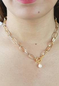 Good Luck Pearl Chain Necklace