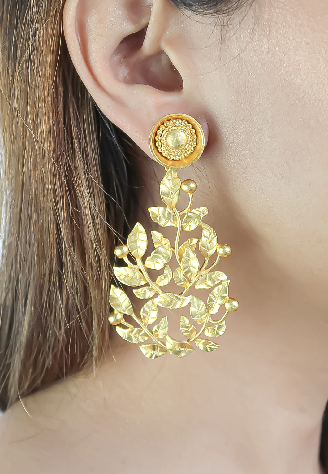 Golden Spring Party Earrings