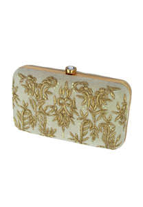 Wit Royal Charm Clutch met klipopening