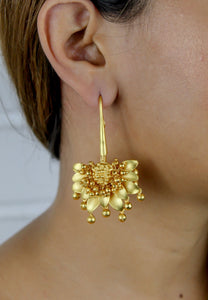 Golden Spring Hook Earrings