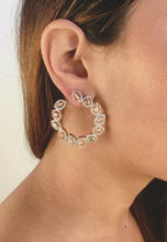 Load and play video in Gallery viewer, Andaja Hoop Earrings