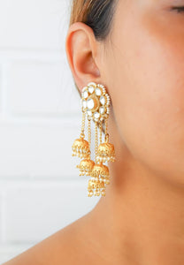 Chakra Kundan Earrings