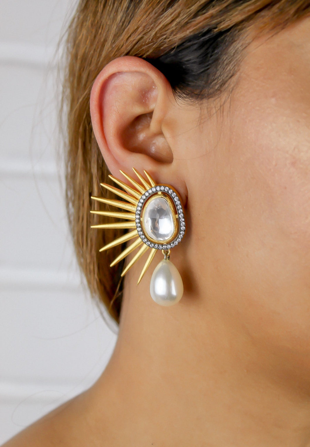 Golden Sun Eclipse Earrings