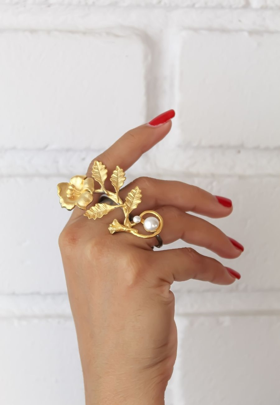 Golden Ivy Ring