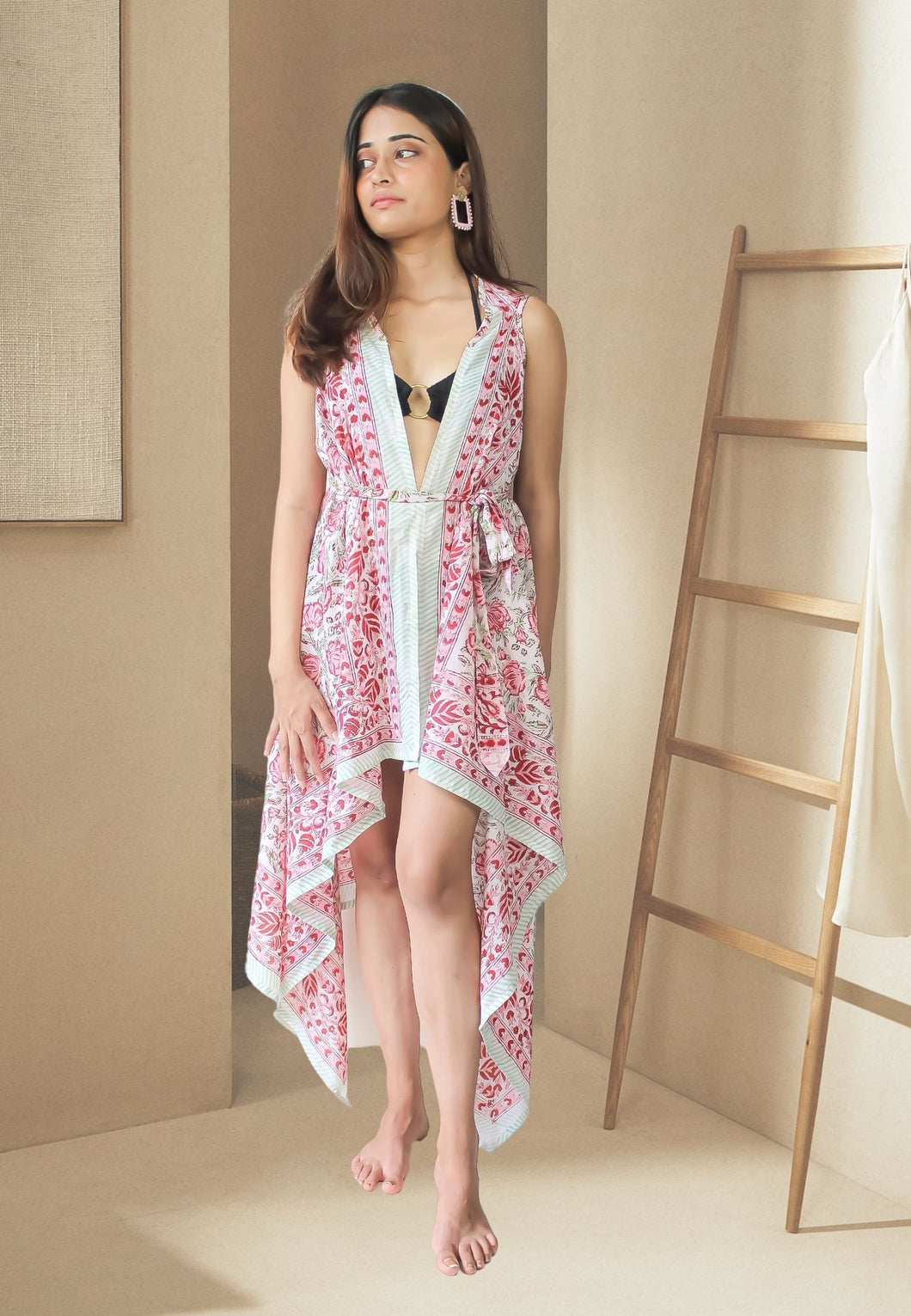 Sevillian Abanicho Gold & Black Earrings