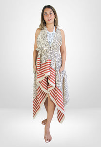 Narada Tear Earrings With Green Stones - Bombay Sunset