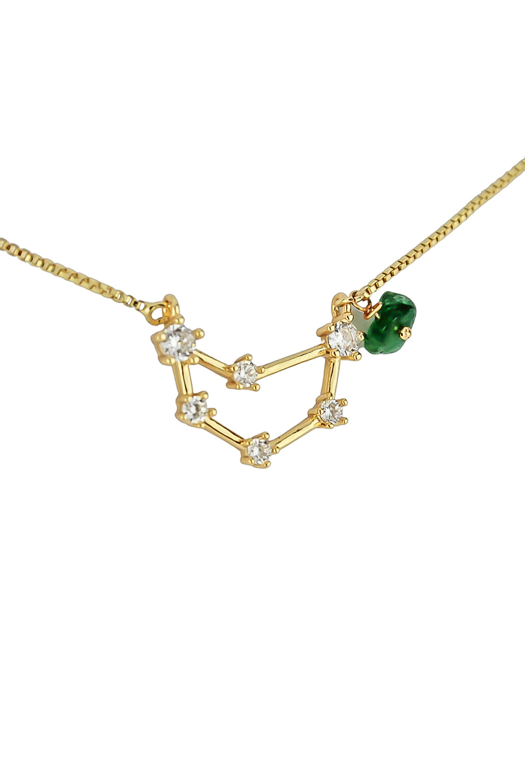Capricorn Necklace with Green Garnet