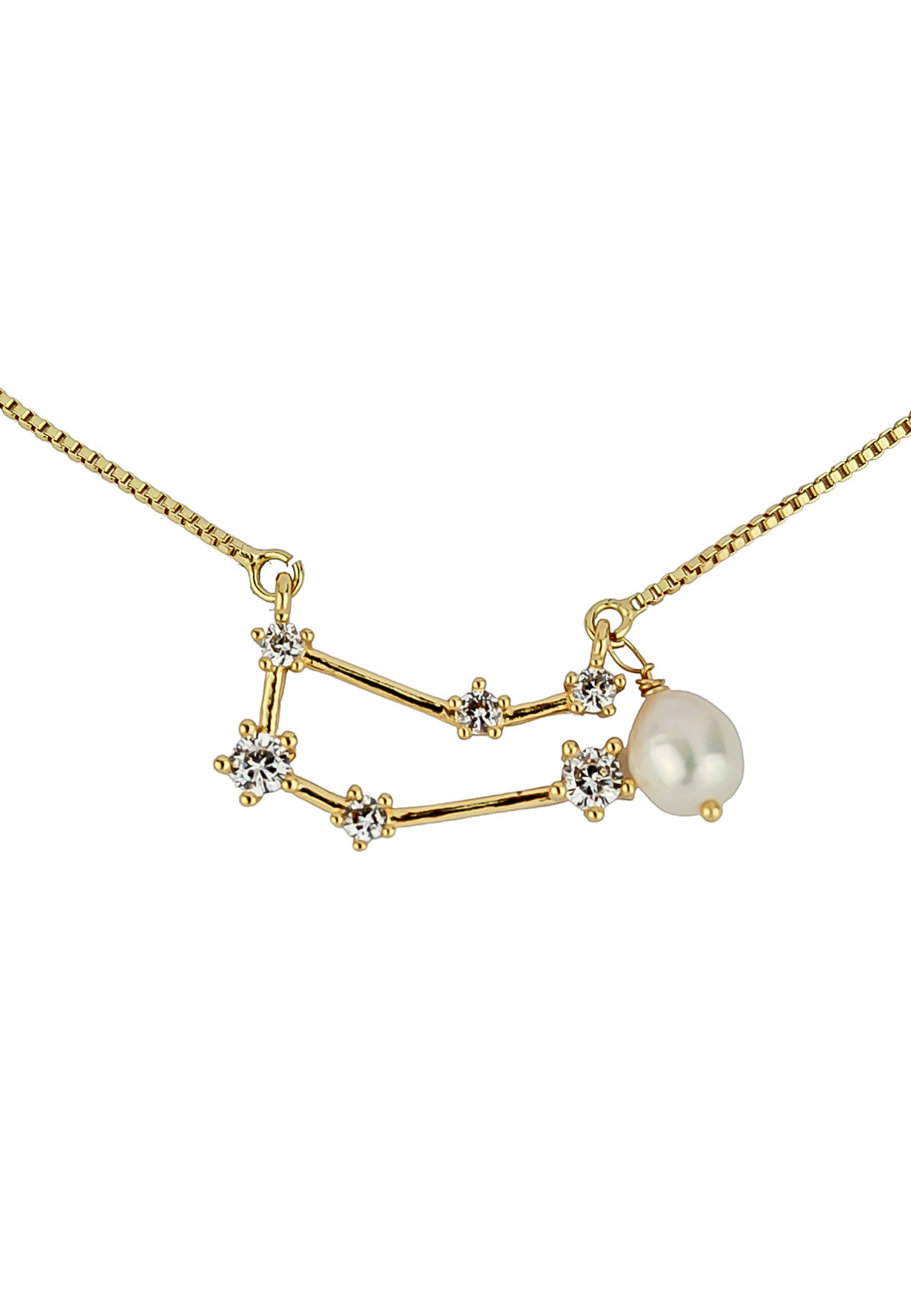 Gemini Necklace with Pearl