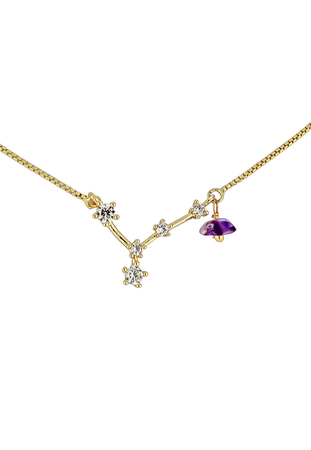 Pisces Necklace with Amethyst