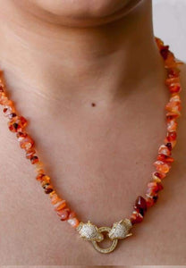 Gemstone necklace with Natural Stones / Sunglass chain