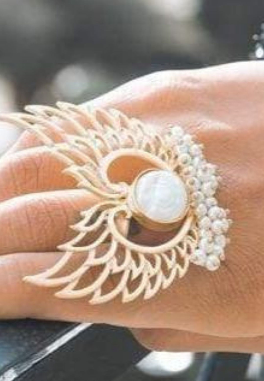 Angel Mother of Pearl Ring