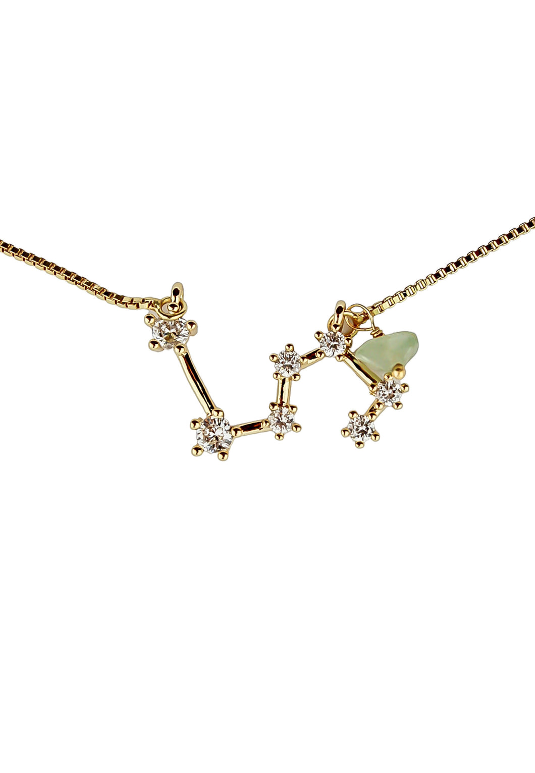 Leo Necklace with Peridot