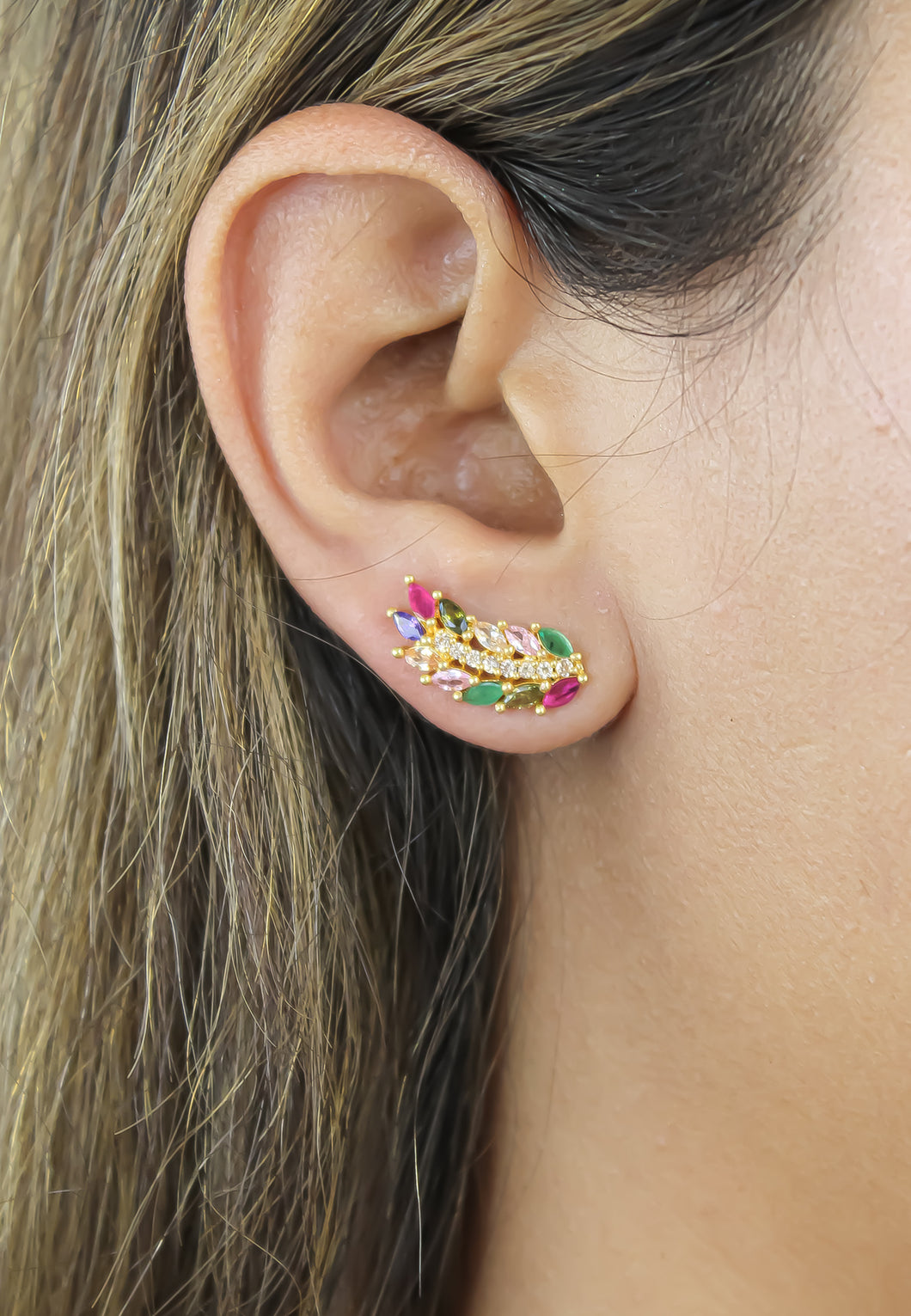 Green Vicky Face-Mask