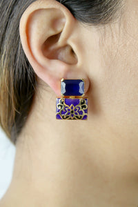 Jaipur Sky Hand-painted Earrings