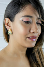 Load image into Gallery viewer, Jaipur Sky Hand-painted Earrings