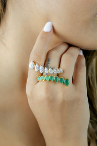 Crystal Spikes Ring