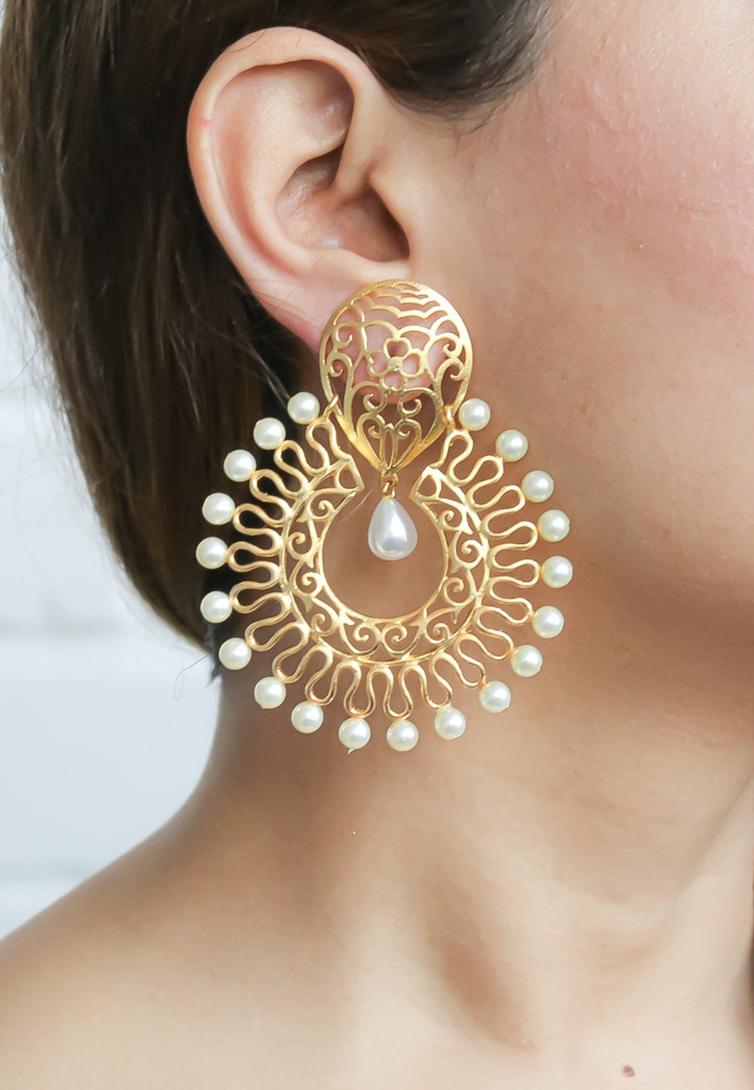 Golden Amritsar Earrings