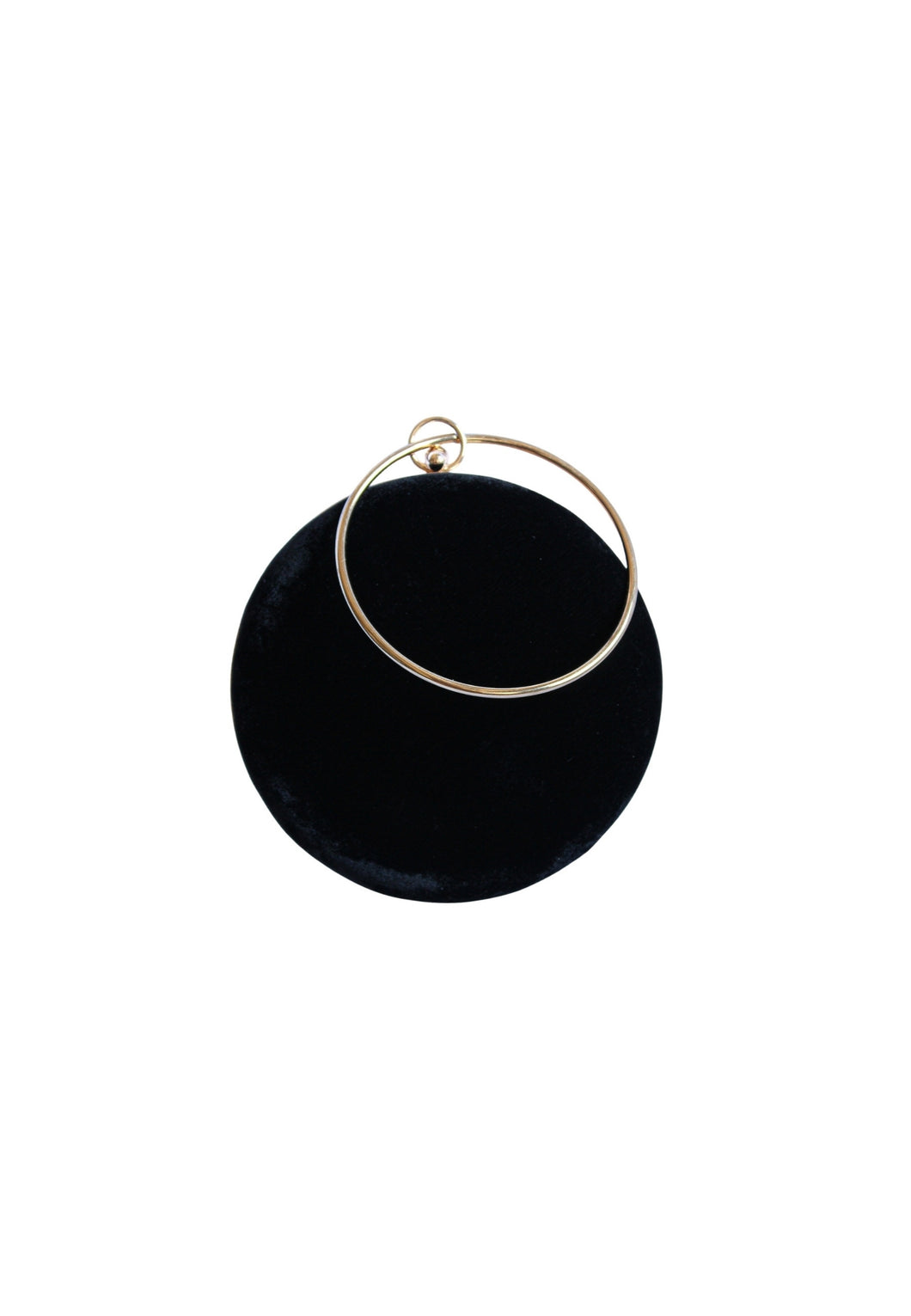 Velvet Moon Black Clutch