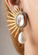 Load image into Gallery viewer, Golden Sun Eclipse Earrings