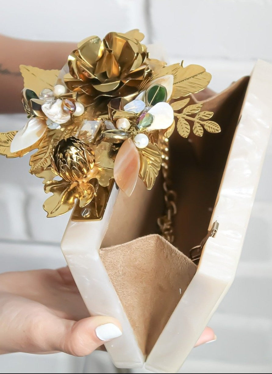 Golden Blossom Clutch