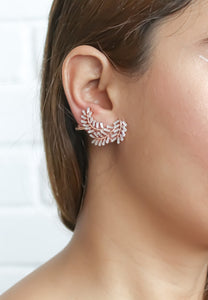 Silver Leaf Climber Earrings