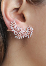 Load image into Gallery viewer, Silver Leaf Climber Earrings