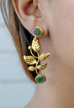 Load image into Gallery viewer, Spring Spark Leaf Earrings