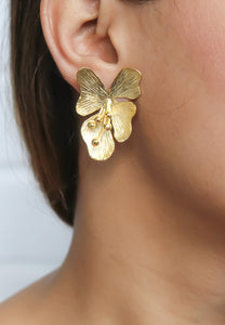 Golden Petal Earrings