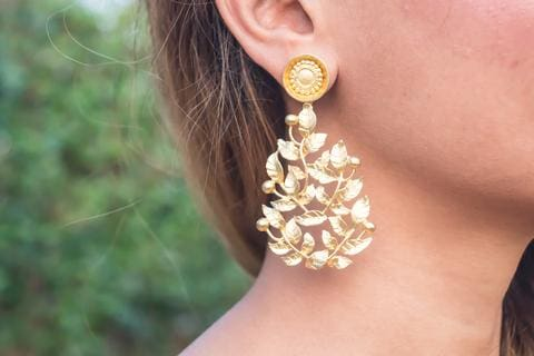Party Spring Golden Earrings
