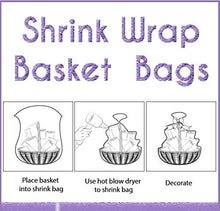 "Load image into Gallery viewer, Shrink Wrap 5 Pack Basket Bags for Gift Baskets Clear Cellophane PVC Shrink Bags 32""x 40"""