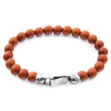 Load image into Gallery viewer, Red Jasper Outrigger Silver & Stone Bracelet