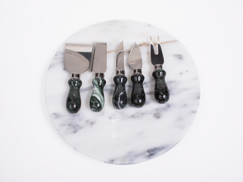Vermont Verde Antique Marble Cheese Tool Set