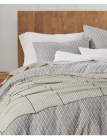 Travertine Reversible Grey Organic Duvet Cover