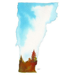 Vermont State Watercolor