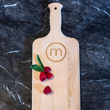 Maple Plank Serving Board with Monogram