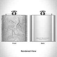 Load image into Gallery viewer, Mount Mansfield - Vermont Map Hip Flask