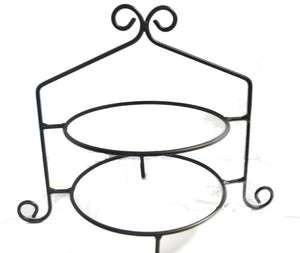 Wrought Iron Pie Stand /Cupcake Rack- Double Tier