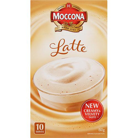 Moccona Café Latte Coffee 10 x 15g - Reinol NZ Ltd.