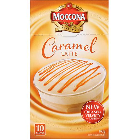 Moccona Café Caramel Coffee 10 x 14g - Reinol NZ Ltd.