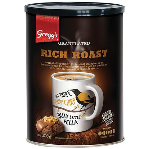 Gregg's Rich Roast Coffee - 500g - Reinol NZ Ltd.