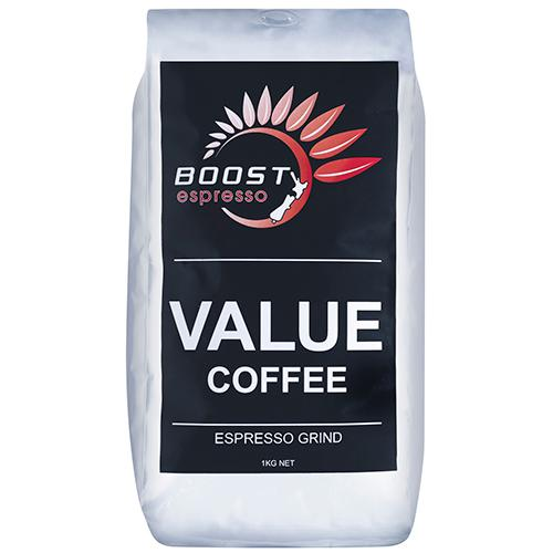 Boost FTO Espresso Ground Coffee - 1Kg - Reinol NZ Ltd.