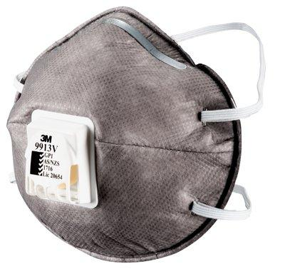 3M GP1 Organic Vapour Dust/Mist Respirator With Valve - 9913 (Pack of 10) - Reinol NZ Ltd.
