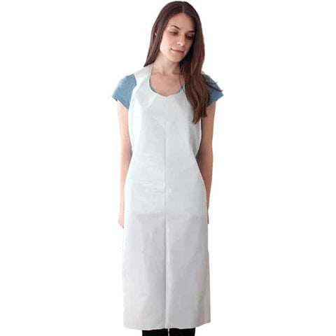 Apron Plastic White Large - 20 per header card - Reinol NZ Ltd.